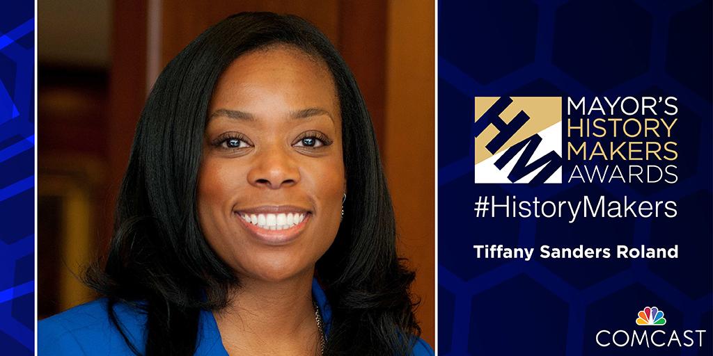 Tiffany Sanders, Kids' Meals Board Chair, receives Mayor's History Maker Award