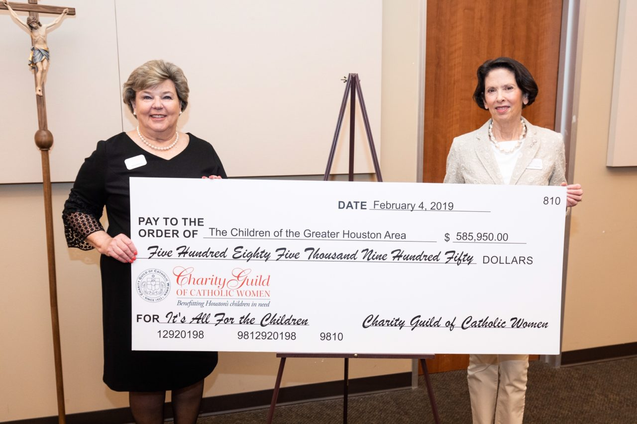 A special thanks to the Charity Guild of Catholic Women