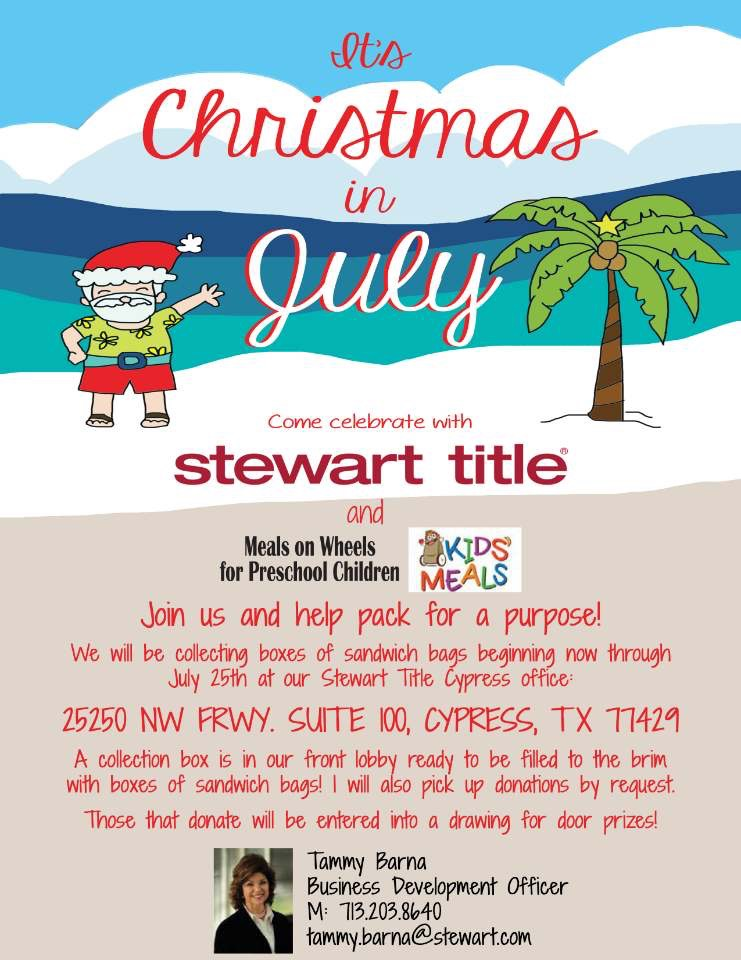 It's Christmas in July at Stewart Title!